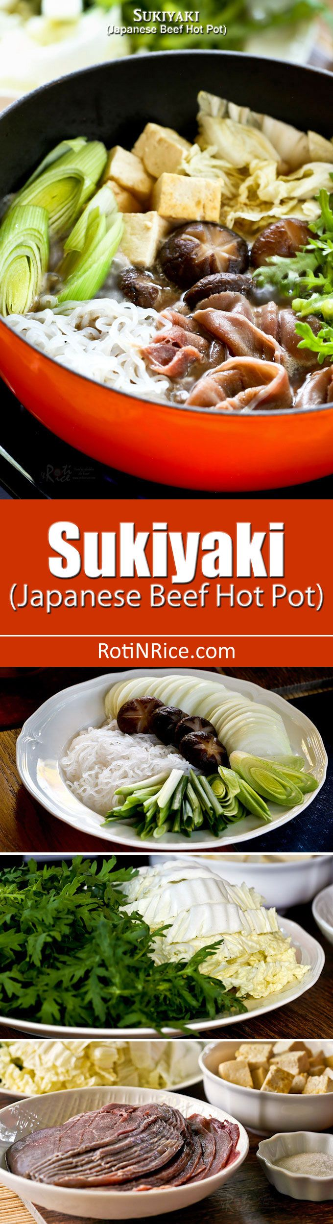 Enjoy Sukiyaki, a popular Japanese Beef Hot Pot often cooked and served at the…