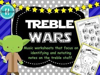 Note Wars - Music Worksheets