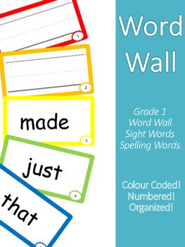 Full Word List - Word Wall - Spelling - PLUS super organized and easy to follow