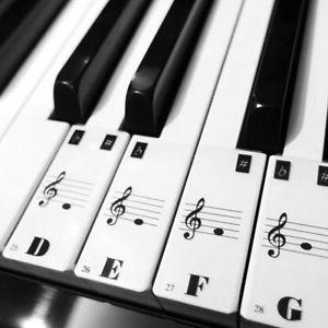 Teclado-De-Piano-61Keys-Electronico-Pegatinas-Teclado-Etiqueta-Notas-Biginners