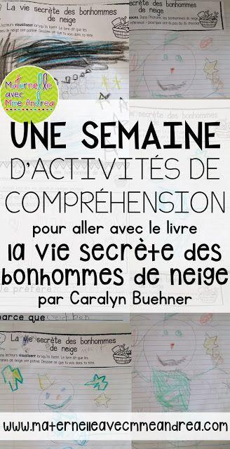 Using French read-alouds to teach reading strategies - ideas for the book La vie secrète des bonhommes de neige