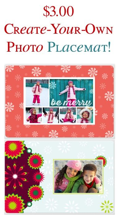 $3 Create-Your-Own Photo Placemat! {+ s/h} ~ these would make cute gifts, too!
