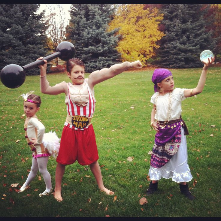 Vintage circus family costumes