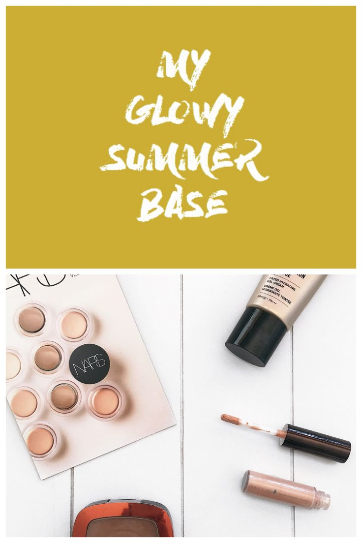 It's summer, it's hot and I can't be bothered to put on my face tons of makeup, but I can't give up a nice glowy summer base... Complexion Rescue by BareMinerals, Nars Soft Matte Concealer, Mac Mineralize Concealer, Bourjois, L'Oréal Glam Glow.