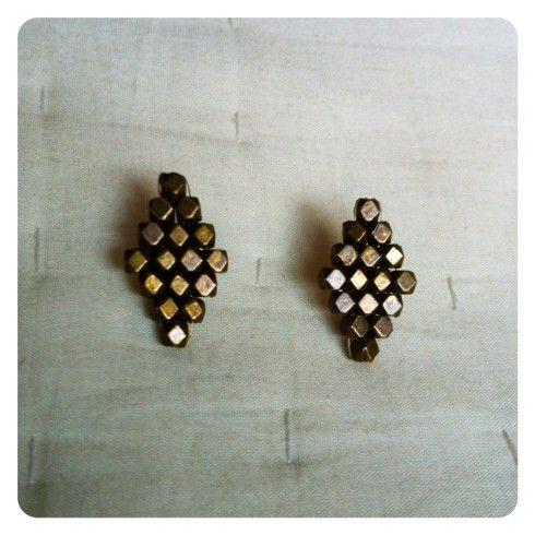 Brass Diamond Studs | Soulfari JewelrySoulfari Jewelry