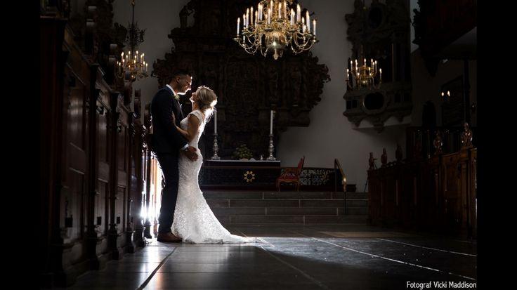 Holmes kirke in Copenhagen wedding  portrait by Vicki Maddison  Professionel wedding photographer