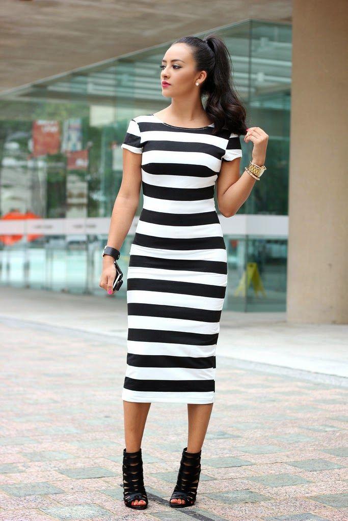 Maytedoll: Striped midi dress