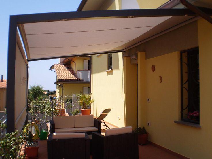 struttura da esterno con sistema illuminazione e