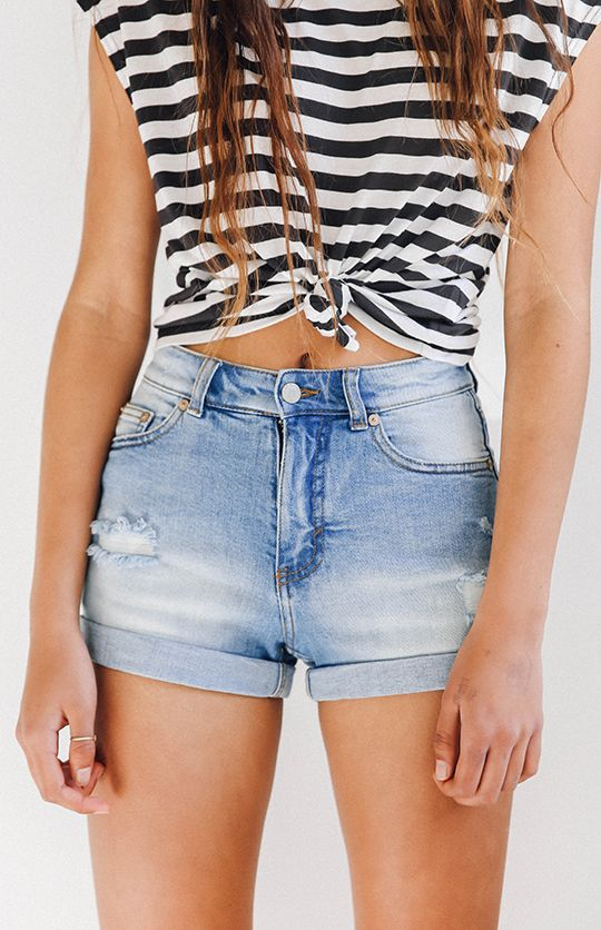Cheap Monday Donna Shorts - Air Blue from peppermayo.com