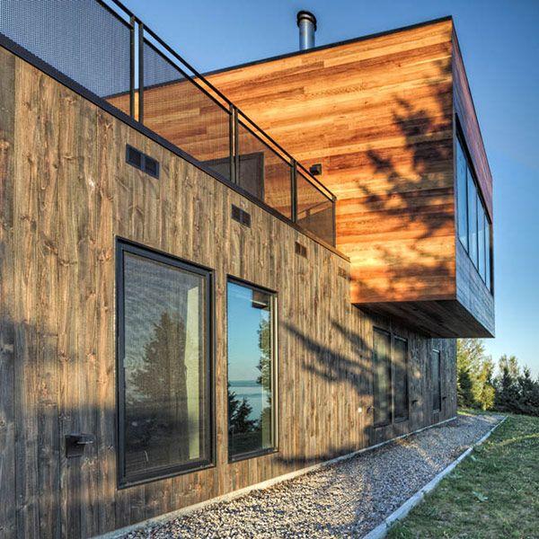 different volumes, different orientation of cladding (MU architecture modern house design)
