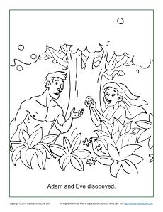 adam and eve disobeyed god coloring page
