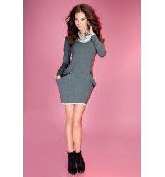 Dresowa sukienka z golfem w sportowym stylu. Idealna na chłodniejsze wiosenne wieczory. Shop online: www.yellow-giraffe.pl Sexy dresses, dress, party, weekend, dreses, sporty,