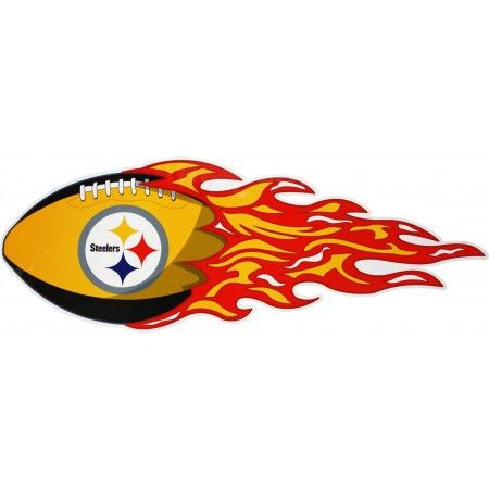Pittsburgh Steelers Football | Pittsburgh Steelers Flaming Football Car Magnet Set