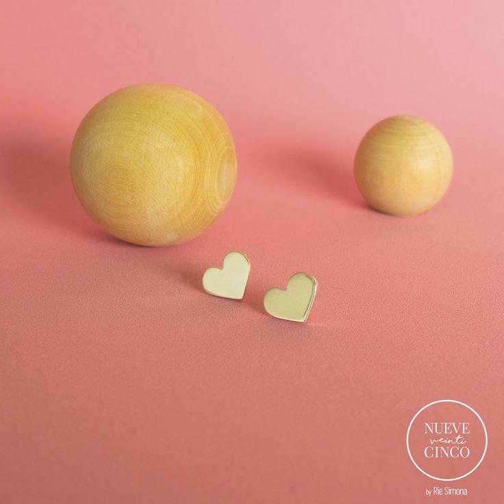 Aros Corazón Plata 925, hechos a mano y con mucho amor. Capsula N° 1. Línea • Nueve Veinticinco •