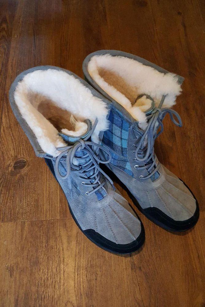 eadb2ba8f5d UGG Butte Blue Surf Plaid Waterproof Vibram Lace Up Men's Winter ...