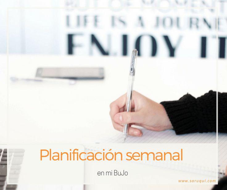Planificación semanal en mi BuJo #BulletJournal