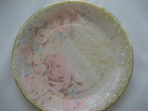 Bridal Shower Party 9 Paper Plates Pack of 8 Dazzling Shower * You can get more details by clicking on the image.