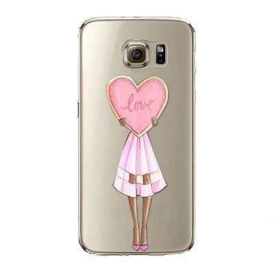 Phone case para samsung galaxy s5 s6 s6edge s6edge + s7 s7edge cubierta Suave de Silicona de Moda Moderno Sexy Señora Girl Bolso Del Teléfono Móvil - envíos gratis en todo el mundo