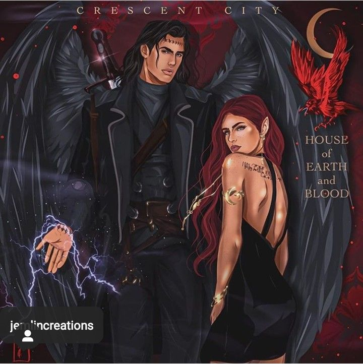 Bryce Quinlan And Hunt Athalar In 2020 Crescent City Sarah J Maas A Court Of Wings And Ruin