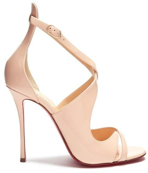 86b034be3b1a Christian Louboutin Malefissima 125 Patent Leather Pumps - Womens - Light  Pink