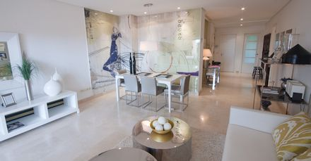 selection of luxury aparments and penthouses properties on the golf course nueva andalucia