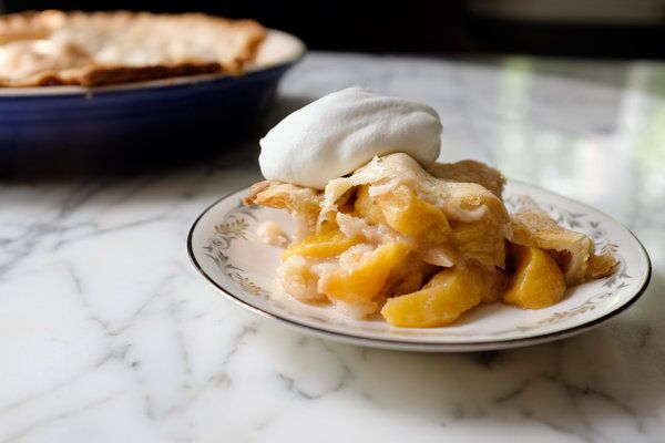 Peach Cobbler | editor's pick on NYTimes Cooking - Edna Lewis, the careful cook from Virginia whose books are considered definitive in the Southern culinary canon, often suggested a lattice top for it, with bits of raw dough tucked into the filling before baking.