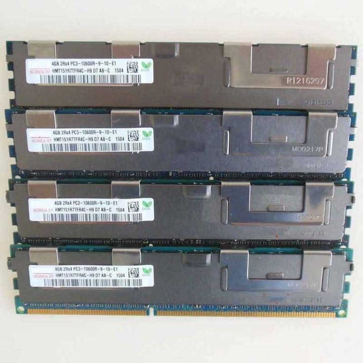 63.16$  Watch now  - 4X4GB PC3-10600R DDR3 1333mhz ECC Memory REG Registered RAM 2RX4 sever memory