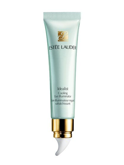 FOR PUFFINESS  When you wake up with puffy eyes, you could soak black tea bags in cold water and place them over your eyes. Much simpler? An eye cream with skin-tightening caffeine. One that is distributed through a cooling applicator will deflate the area even faster. Estée Lauder Idealist Cooling Eye Illuminator uses NASA-inspired technology to keep its ceramic tip permanently chilled.