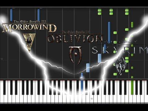 The Elder Scrolls III IV V Main Themes - Morrowind, Oblivion, Skyrim