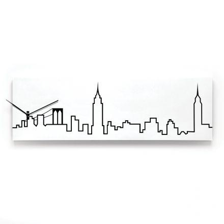 Orologio SKYLINE New York bianco