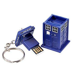 ThinkGeek :: Doctor Who 4GB TARDIS Flash Drive