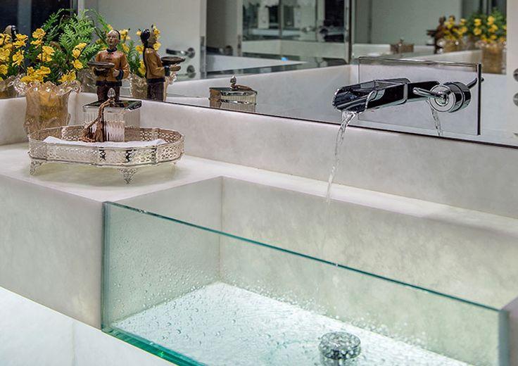 Cuba de vidro no Pinterest Box banheiro vidro, Design de casas de ...