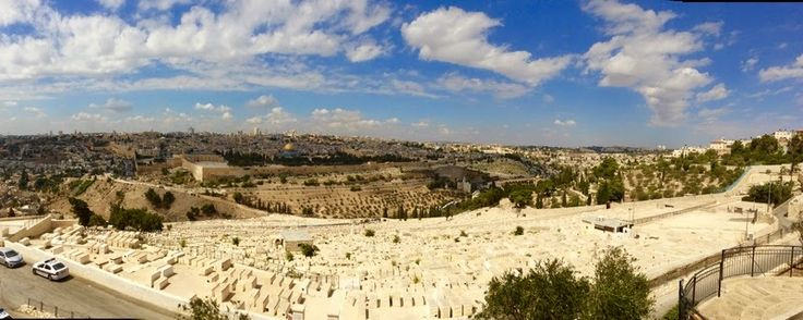 View from Mount of Olives. Old city Jerusalem Israel.