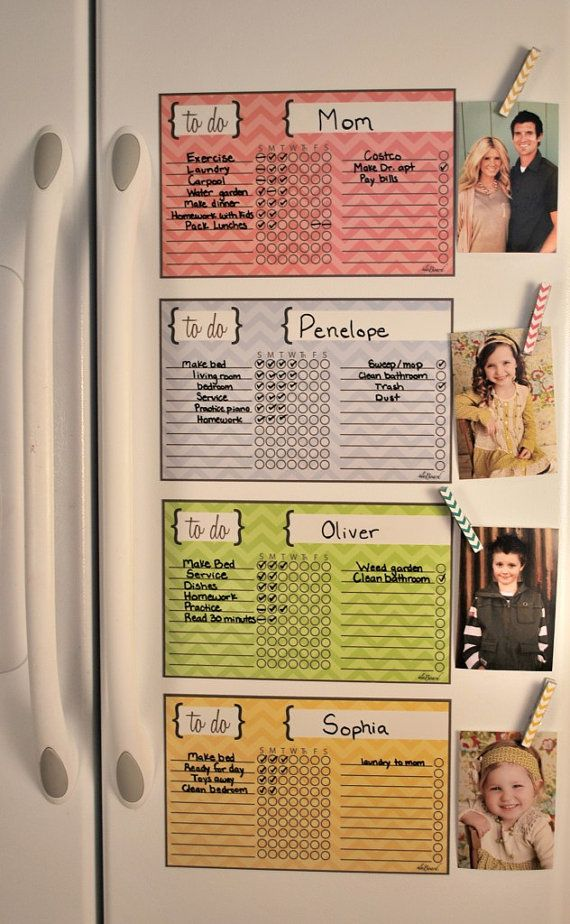 Family Organization, Fun Kid Organization, Child Chore Chart