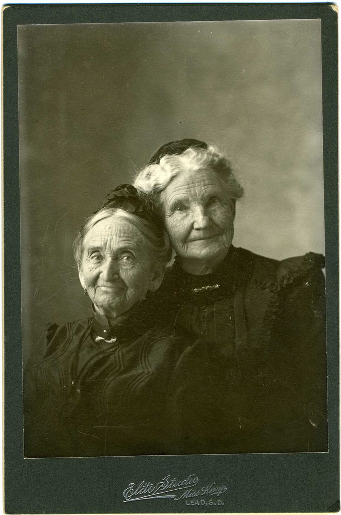 Cabinet Card: Two Anonymous Women [Sisters?] Lead, South D… | Flickr