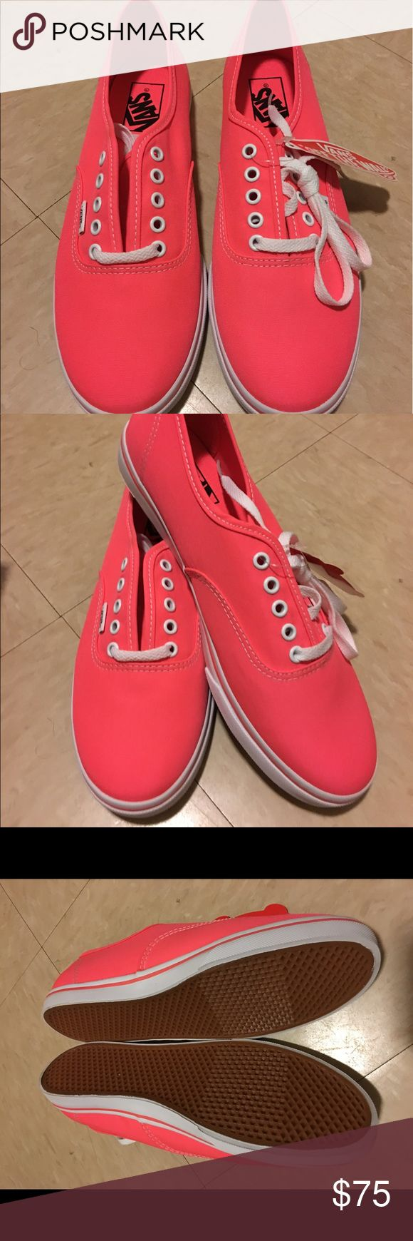 Women Neon Coral Vans Brand new, never worn and comes its original box Vans Shoes Sneakers
