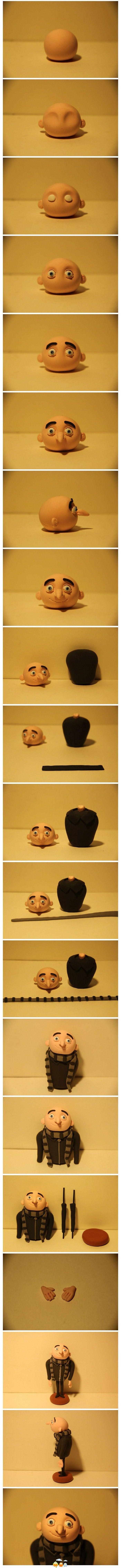 Despicable Me, fondant or modelling clay from repiny