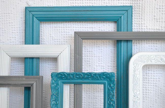 Teal  Grey White Frames Set of 6   Upcycled Frames Modern Bedroom Decor    White Frames  Teal and Gray BedroomTeal  Grey White Frames Set of 6   Upcycled Frames Modern Bedroom  . Teal And Gray Bedroom. Home Design Ideas