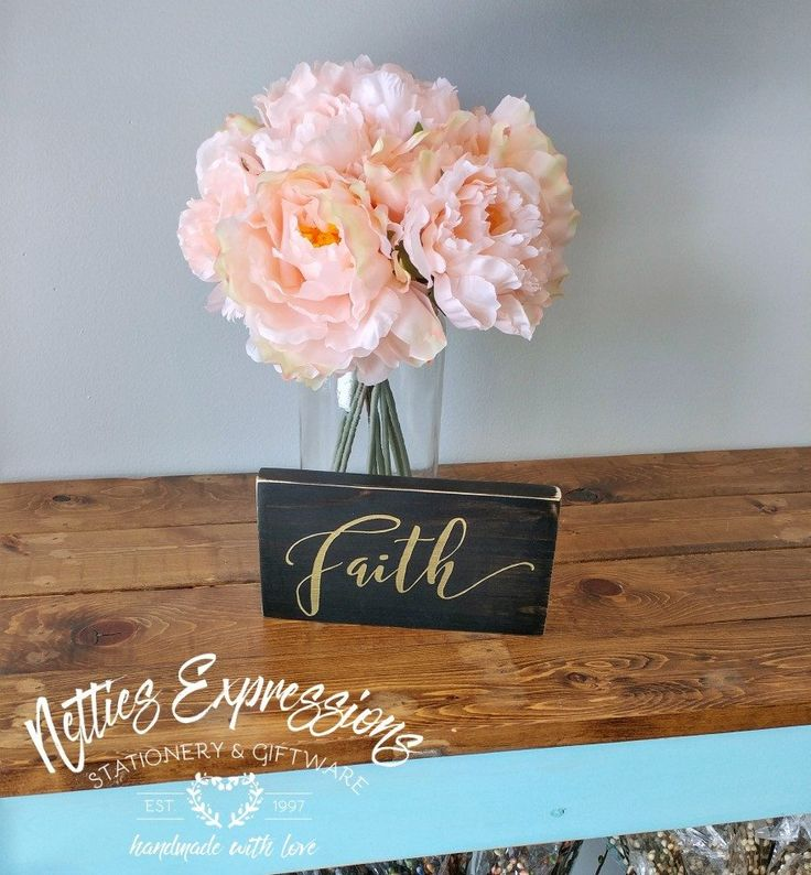 Faith 3.5x7 Wood Sign - Netties Expressions