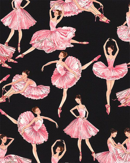 Tiny Dancer Ballet Fantasy Quilt Fabrics From Www