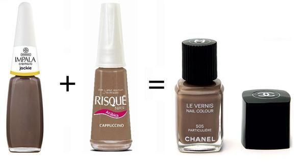 Misturinha para Chanel Jackie Impala + Cappuccino Risqué = Particuliare Chanel
