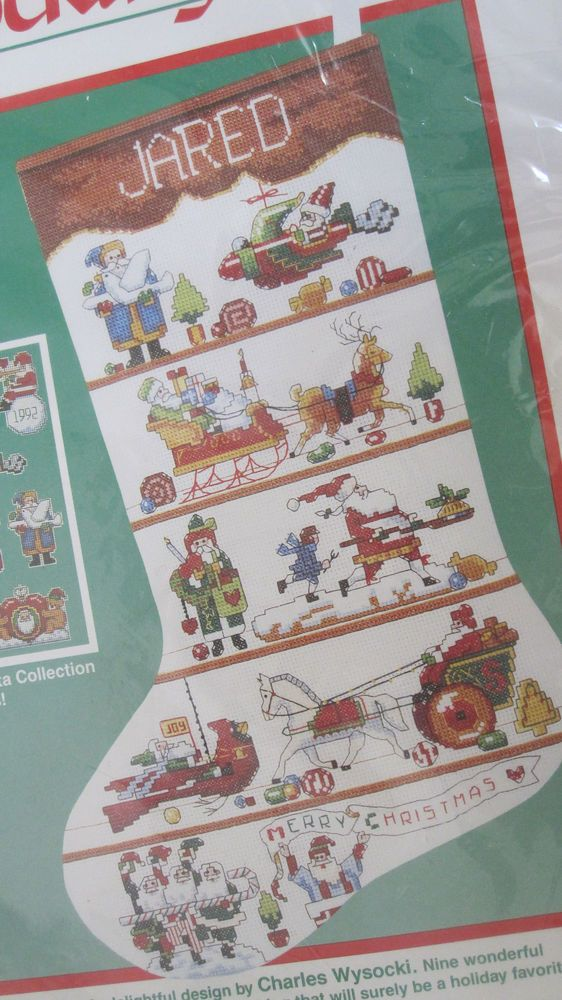 227 best images about christmas kits cross stitch for Charles craft christmas stockings