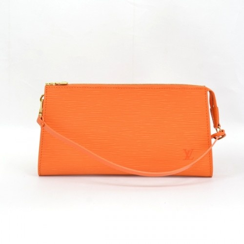 Louis Vuitton Orange Epi Pochette Accessories Bag