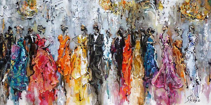 Fancy Outfits par skoko, artiste présentement exposée aux Galeries Beauchamp. www.galeriebeauchamp.com