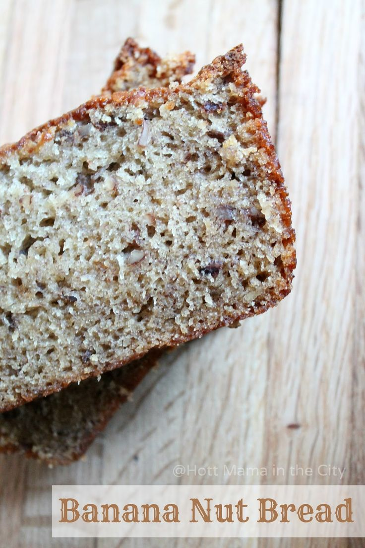 Amazing Banana Nut Bread recipe. Simple ingredients and easy to make