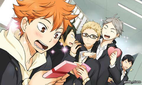 I bet those who didn't receive chocolates are hoarding Tsukishima and Kageyama's chocolate...? Yes, I'm that horrible