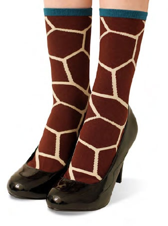 Giraffe Pattern Socks