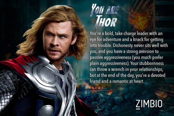 I took a quiz and got Thor as my Avenger... This doesn't sound like me. Well kinda. Idk... Who will you get!?