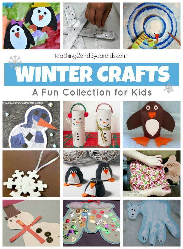 20 winter crafts for preschoolers that are easy and fun! From Teaching 2 and 3 Year Olds