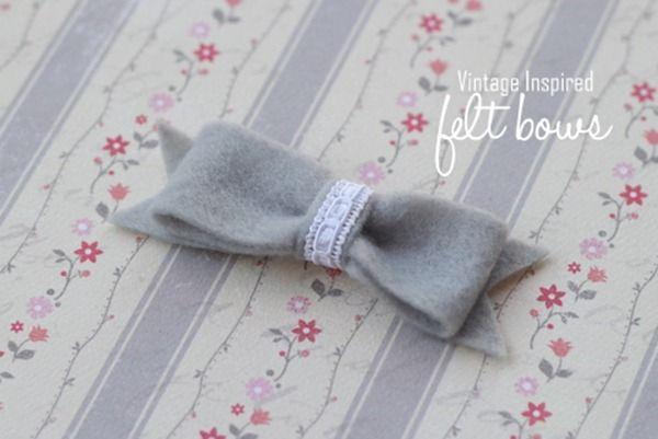 Felt Bow {tutorial} - I Heart Nap Time | I Heart Nap Time - How to Crafts, Tutorials, DIY, Homemaker